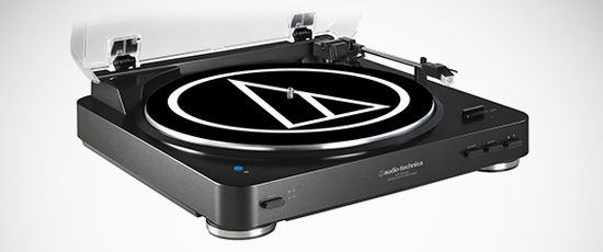 New Audio-Technica AT-LP60-BT wireless turntable