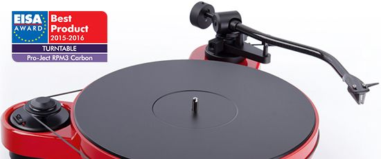 RPM 3 Carbon - EISA European turntable of the year 2015-2016